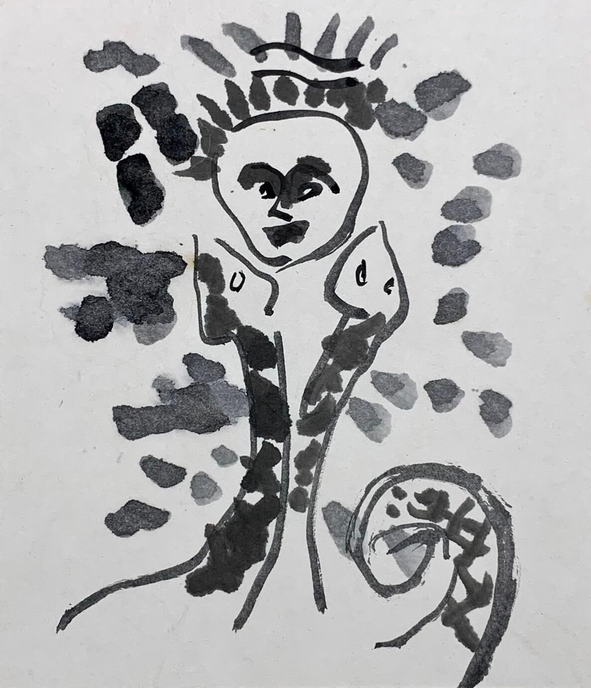パイワン/水墨・1946年頃